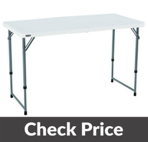 Lifetime Height Camping Folding Table 1